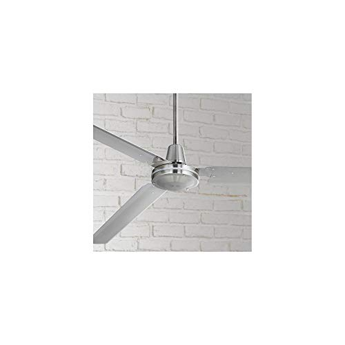72' Casa Velocity Modern Industrial Outdoor Ceiling Fan Brushed Nickel Wall...