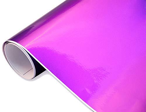 Neoxxim 24,22€/m2 Premium - Auto Folie - Hochglanz METALLIC Lila 30 x 150 cm Folie - blasenfrei mit Luftkanälen ca. 0,16mm dick selbstklebend flexibel