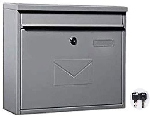 WWWXD Im Freien Wasserdichten Mailbox Pastoral Weinlese-Wand mit Schloss Briefkasten Mailbox Classic Metal Postbox