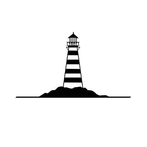 zxddzl Große Leuchtturm Wandaufkleber Leuchtturm Wandtattoo Mediterranen Stil Wohnkultur Wandaufkleber-100x58cm