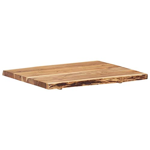 pedkit Superficie de Mesa Tablero para Mesa de Cocina de Madera Maciza de Acacia 80x60x3,8 cm 🔥