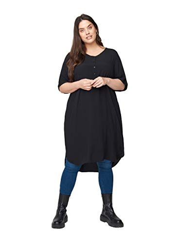 Zizzi Große Größen Damen Kurzarm Kleid aus Viskose Gr 42-56