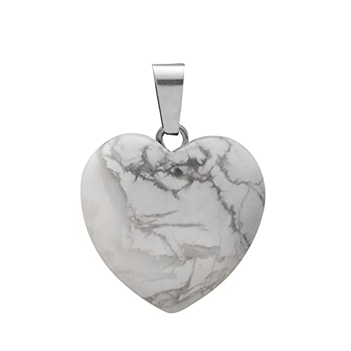 YSJJUSZ Piedras Preciosas Collar de Cristal de Piedra Natural Colgante Rosa for la Moda Nacklace Joyería (Length : 45cm, Main Stone Color : 25mm(Thickness 11mm))