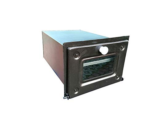 MIMART Home&Wood Backroehre Backkasten Ofen Pizzaofen Backofen Brotbackofen/Braun mit Glas/