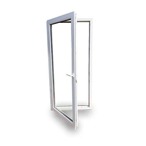Balkontür - Kunststoff - Tür - weiß - BxH: 80 x 190 cm / 800 x 1900 mm - DIN links - 3 Fachverglasung