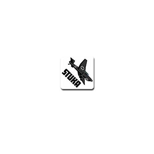 Stuka sticker sticker valgevechtsvliegtuig eenmotorig vliegtuig 7x7cm #A3815