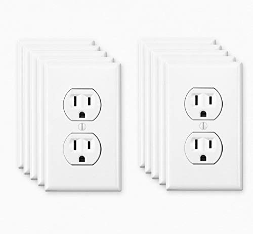 Fake Electrical Outlet Sticker | 10-Pack Fake Wall Outlet Decals | Funny Stickers and Decals | Prank Sticker | Electric Plug Sticker