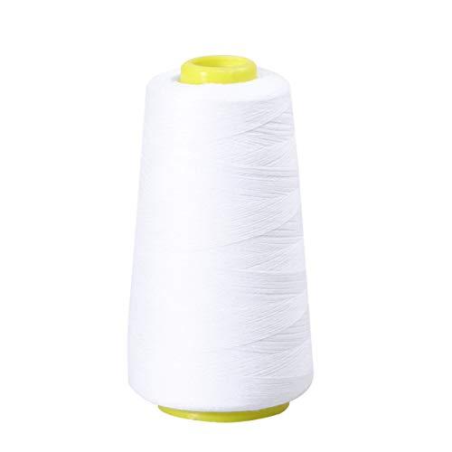 HEALLILY 2 Stks Hoge Sterkte Polyester Draad Naaigaren 3000 Yard Voor Hand Naaien en Naaimachine (Wit)