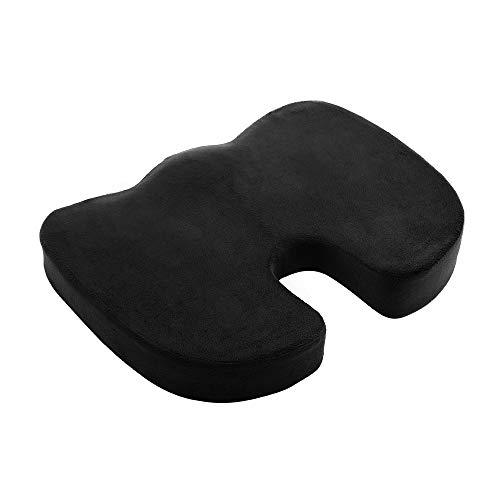 Cuscino per Sedia Ecloud Cuscino per Sedia Memory Foam Coccyx Supporto per Cuscino Copertura in Velluto Cuscino per Sedile per alleviare Il Dolore sciatico e dell'anca, per casa e Sedia a rotelle