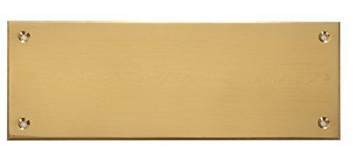 EDEL DESIGN RECHTECKIG GROSS MASSIV MESSING TÜRSCHILD 16 x 0,5 x 6 cm inkl. wunsch Gravur