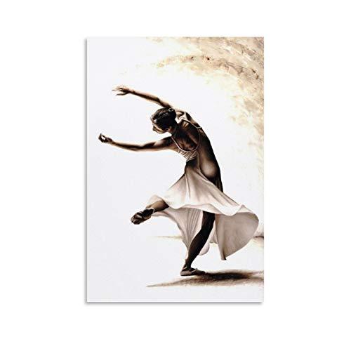 Póster de bailarín ecléctico de ballet, lienzo decorativo para pared, sala de estar, dormitorio, 30 x 45 cm