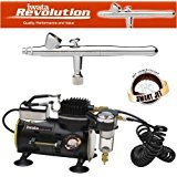 Master Airbrush IWATA REVOLUTION BR AIRBRUSHING SYSTEM WITH SMART JET AIR...