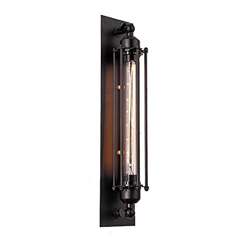 Lámpara de pared industrial Jaula de metal montado en la pared además de lámparas (una bombilla de prueba incluida)
