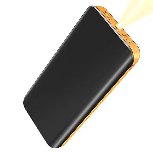 FKANT Batería Externa 25000mAh, Power Bank Alta Capacidad con 2 USB Puertos, Linterna LED de 4 Modos Cargador Portátil Movil para iPhone, Huawei, Samsung, Android, Tabletas y más Dispositivos