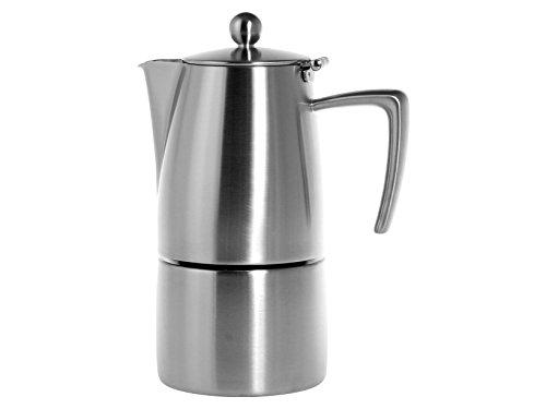 Ilsa Slancio Espressokanne, mit Induktionsboden, Edelstahl, Silber, für 4 Tassen
