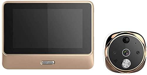 Timbre inalámbrico, Video Doorbell, Digital Puerta Viewer Peephole, WiFi Hogar inteligente, Alarma antirrobo, Pantalla de color HD de 5 pulgadas, Monitoreo, Visión nocturna, Tuerea del sistema, Cámara