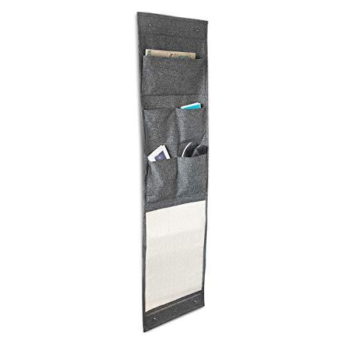Navaris Tapis griffoir Chat - Tapis Fixation Murale en sisal et Lin 174 x 45,5 cm avec Compartiments de Rangement - Protection canapé Meuble Sol Mur