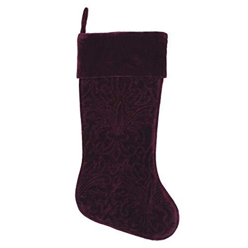 "Vickerman Christmas Eve Wine Set Stocking, 8"" x 19"" -  QTX17302"