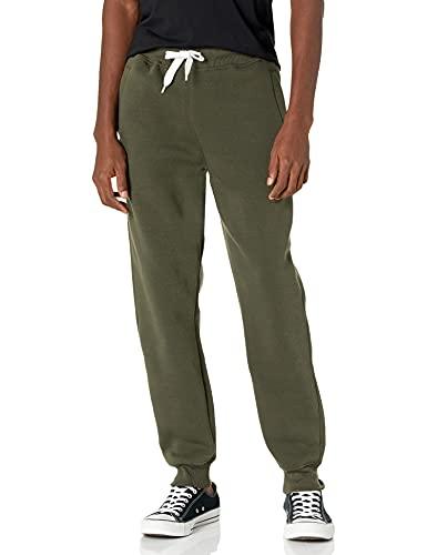 Southpole Men's Active Basic Jogger Fleece Pants, Olive, MEDIUM