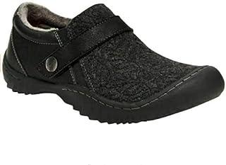 JSport Women's Blair Fur Winter Slip On Shoes (Black, 6, Numeric_6)