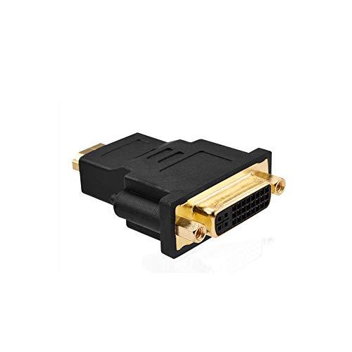 PULABO Dual Link DVI-I 24+5 hembra a HDMI macho conector adaptador de cable convertidor negro cómodo y respetuoso del medio ambiente práctico y rentable