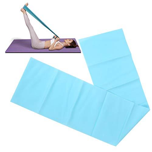 Tenpac Correa de Estiramiento de Yoga, Cinturón de Yoga elástico, Correa de Estiramiento, para Adelgazar(Blue)