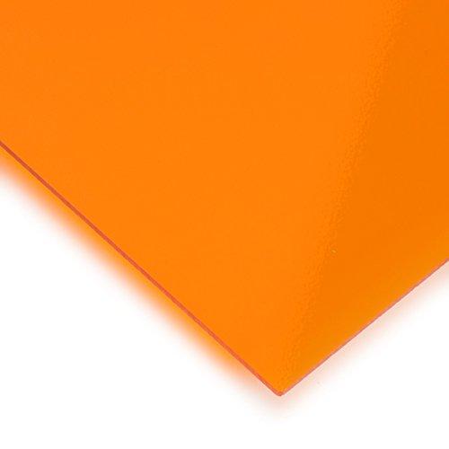 Metacrilato naranja transparente - DINA3 x 3 mm