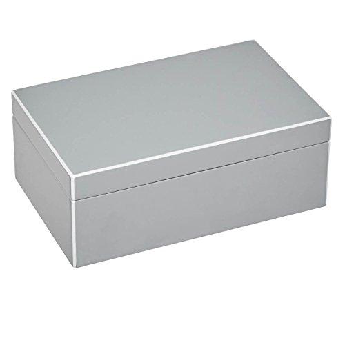 Gift Company 75874 Schmuckbox - Schmuckkasten - Schmuckschatulle - Tang - S - Flannel/Silber 22 x 14 x 8,3 cm