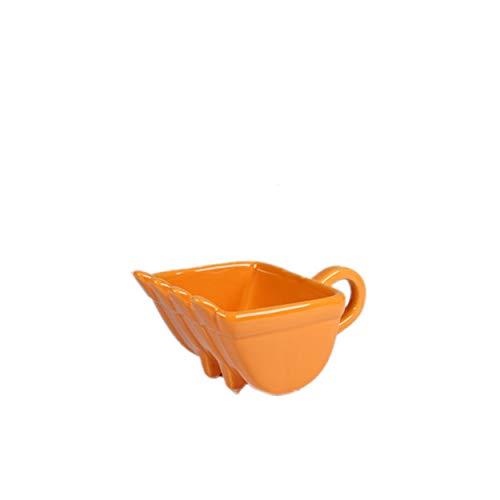 Baggerschaufel Tasse, Digger Kaffeetasse, Bagger Eimer Kaffeetasse, Keramik, Fassungsvermögen 340 Ml, Mit Löffel, Für Verschiedene Getränke Verwendet, Bestes Geschenk (Gelb, Tasse)