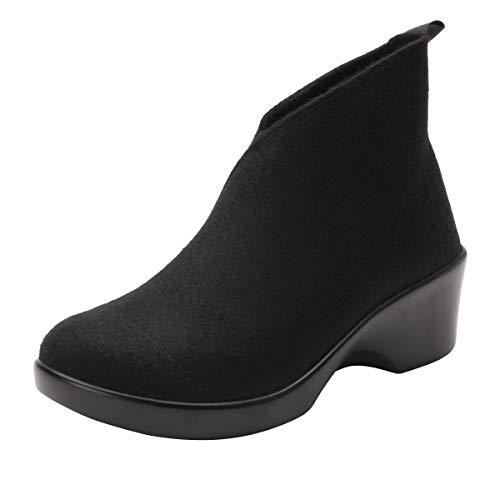 Alegria Nadya Womens Shoes Black Fleece 11 M US