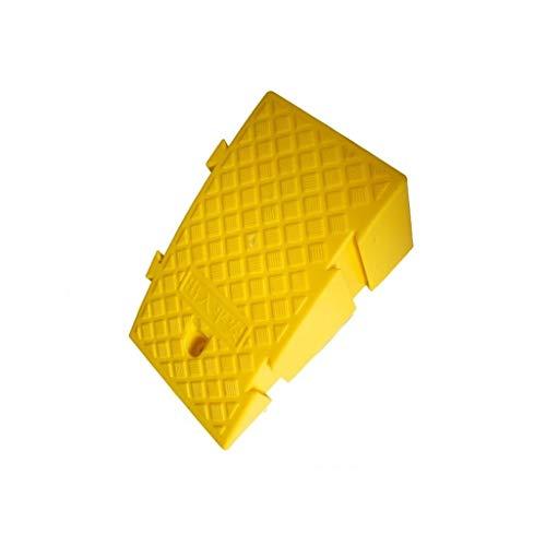 Buffer-Feng oprijplaat, zwart/geel kunststof uphill pad wegvoertuig stappenpad kinderfiets hellingshoogte 16 cm