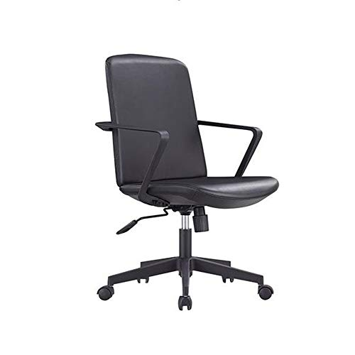 Ergonomic Office Chair Modern Simple Lifting Rotating Armrest Computer Chair Backrest Office Chair Breathable Comfortable (Color : Black, Size : Free Size)