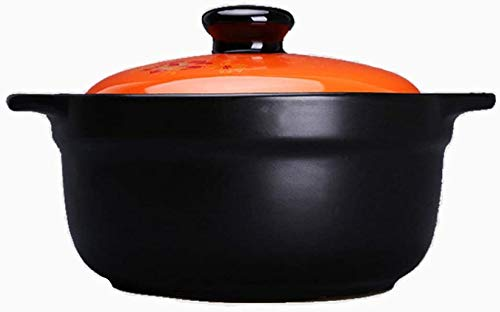 YFMMM Enameled Cast Iron Dutch Oven, 2.8L with Lid Pre-Seasoned Pot Non-Stick Covered Round for Cooking/Basting or Baking, 2.9-Quart,Black