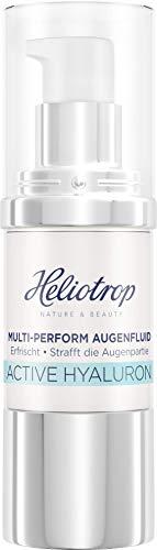 HELIOTROP Naturkosmetik ACTIVE HYALURON Multi-Perform Augenfluid, mit natürlicher Hyaluronsäure, Anti-Aging Augencreme für straffere Haut und weniger Falten, Vegan, 20 ml