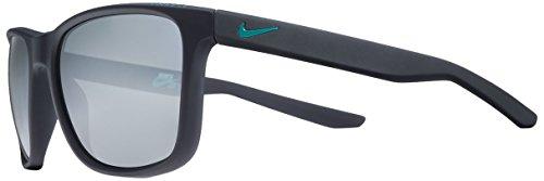 Nike EV0921-400 Unrest Sunglasses (Frame Grey with Silver Flash Lens), Matte Dark Obsidian