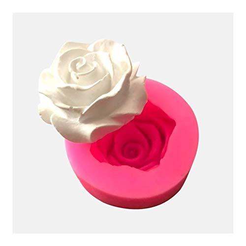 3D Bloom Rose Shape Silicone Flower Mould handgemaakte zeep chocolade fondant Cake keuken Bakken Wedding versieren dessert Gereedschap (Color : 1)