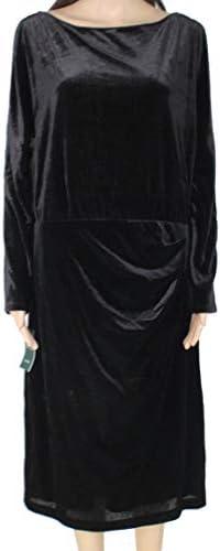Ralph Lauren Womens Black Long Sleeve Jewel Neck Knee Length Sheath Evening Dress Size 8 product image