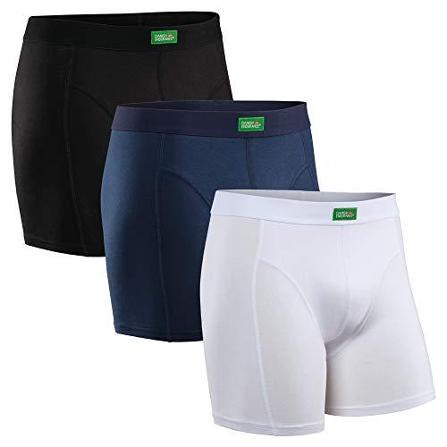 DANISH ENDURANCE Boxershorts aus Bio-Baumwolle (Mehrfarben - 3 Pack (1 x Schwarz, 1 x Blau, 1 x Weiß), Large)