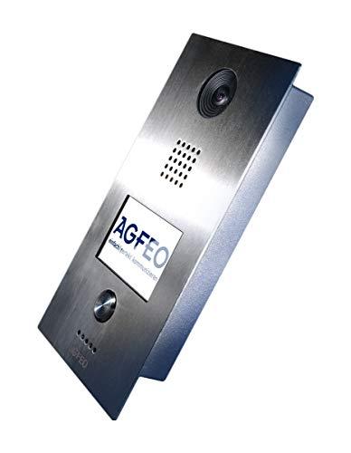 AGFEO IP-Video TFE 1 Video-Zugangssystem 8,89 cm (3.5 Zoll) Silber - Video-Zugangssysteme (8,89 cm (3.5 Zoll), TFT, 480 x 320 Pixel, Silber, IP65, Knöpfe)