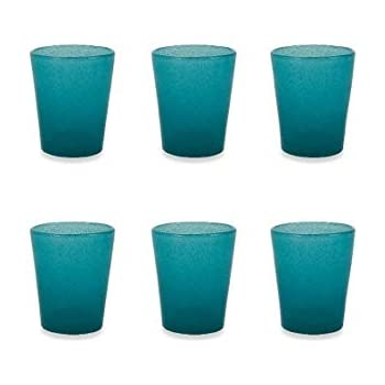 juego de 6/Cancun Satin vaso Azul Cristal Villa D este Home Tivoli 2190791