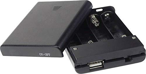 VELLEMAN - BH341USB Batteriehalter fur 4 x aa-batterien (mit usb-anschluss) + sch 249005