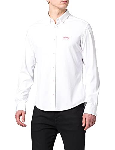 BOSS Herren BIADO R Regular-Fit Hemd mit geschwungenem Logo