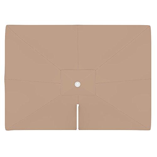 paramondo Telo di Ricambio incl. Air Vent per Ombrellone da Giardino Parapenda (4 x 3 m/Rettangolare), Crema