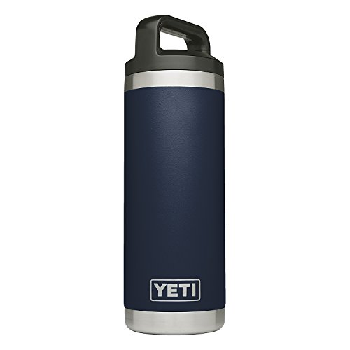 YETI Rambler 18 oz Bottle, Vacuum Insulated, Stainless Steel with TripleHaul Cap, Navy