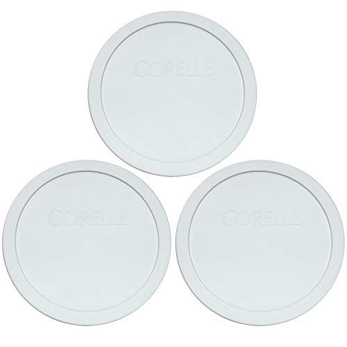Corelle White 1.0 Quart - .95 Liters Plastic Cover 323-PC (3)