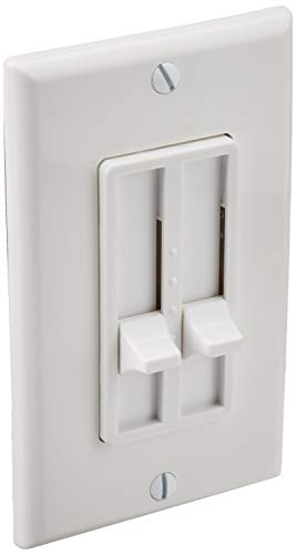 Leviton 6628-W SureSlide Two-Circuit Electro-Mechanical Incandescent Slide Dimmer, White