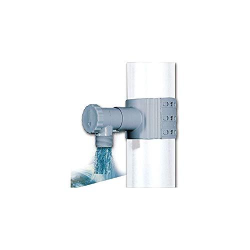 Récupérateur / Collecteur deau de pluie Gris + scie pour descente de 75 à 100 mm