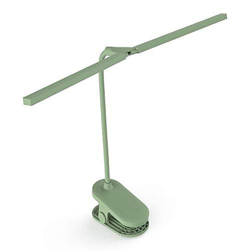 ZGNB Lámpara de Plegable Giratorio Pinza Lámpara de Mesa Control Táctil Flexo de Escritorio luz Lámpara de Escritorio LED de Intensidad Regulable en 3 Colores Portalámparas Doble
