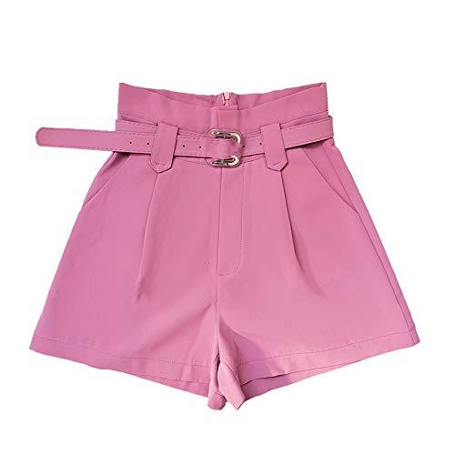 N\P Pantalones cortos de mujer de cintura alta pantalones cortos de verano señora bolsillos cortos cortos