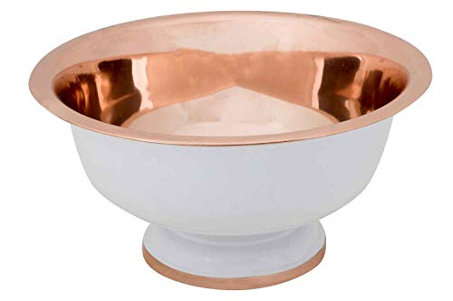 Cosy & Trendy White-Copper Seau A Champagne sur Piedd32xh18cm White Outside-Copper Inside